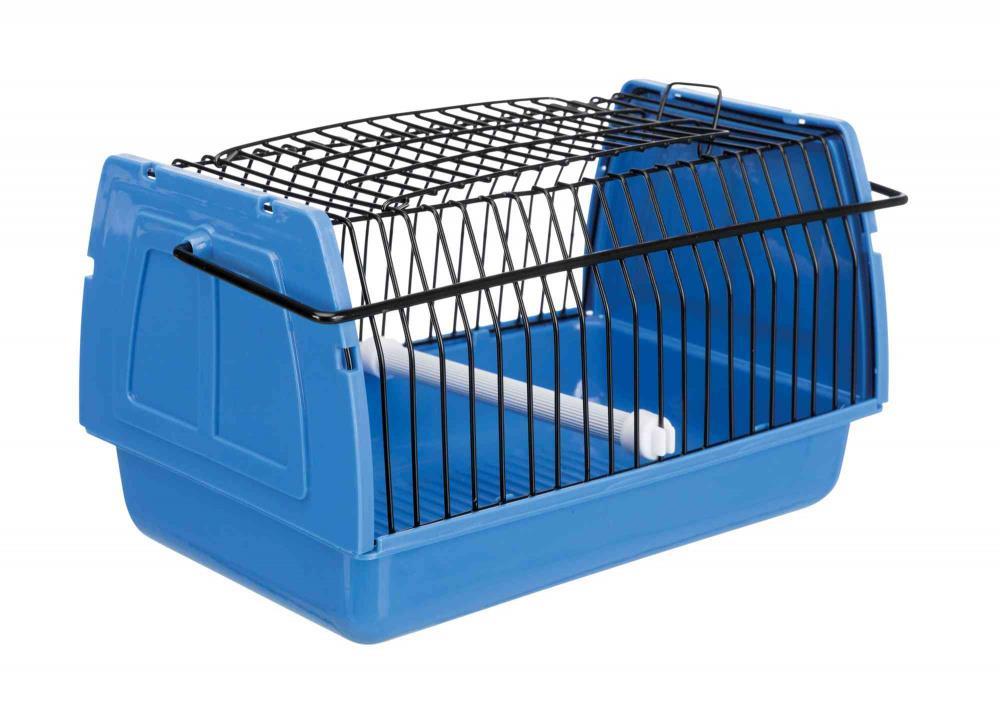 Transportbur plast/gitter til fugler og smådyr 14x