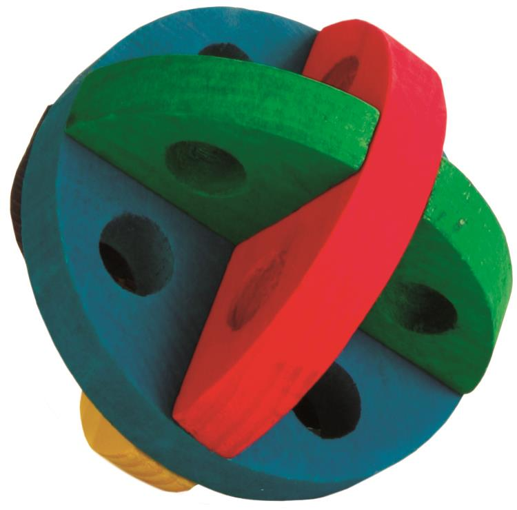 Aktivitetsball i tre til gnager 8,5 cm