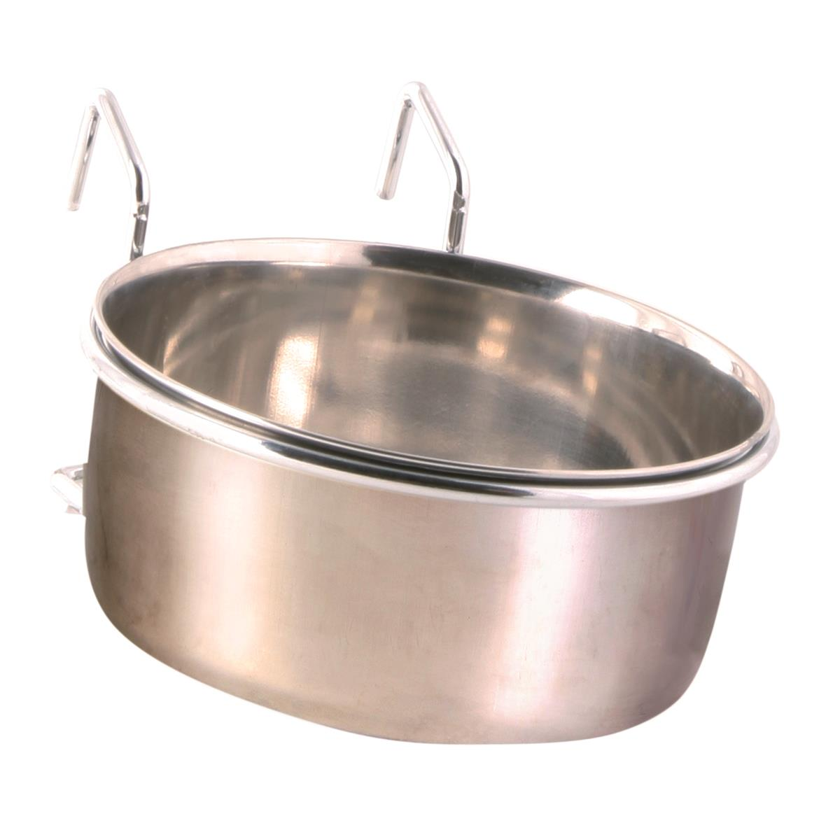 Matskål med holder i stål 600 ml