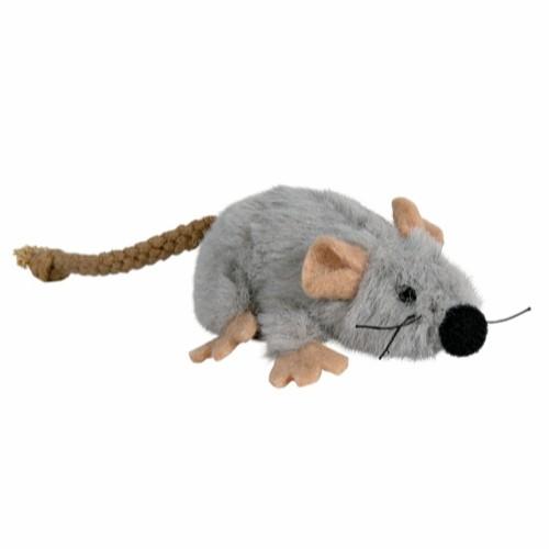 LEKEMUS m/catnip grå