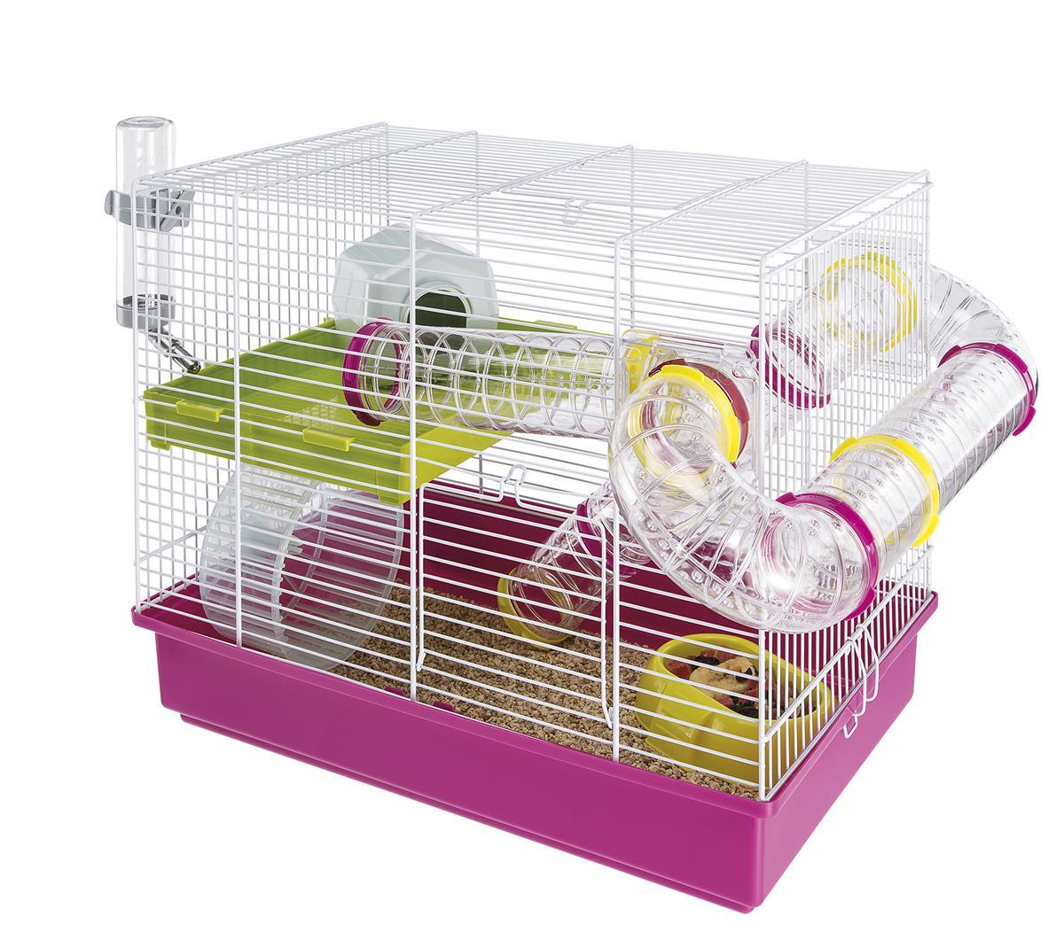 Ferplast laura hamster hvit/rosa 46x29.5x37.5 cm