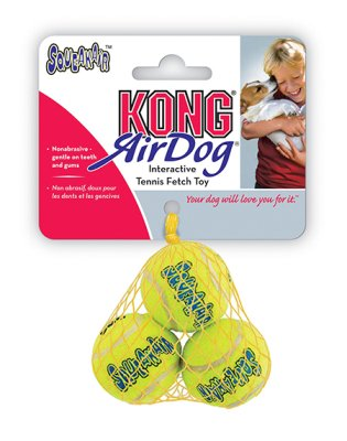 Kong Airdog Tennisball 3-pk x-small squeaker 4 cm
