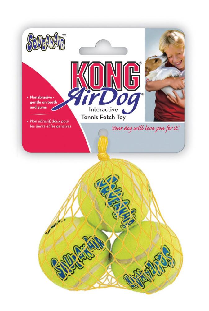 Kong Airdog Squeaker Tennisboll 3Pack S5Cm