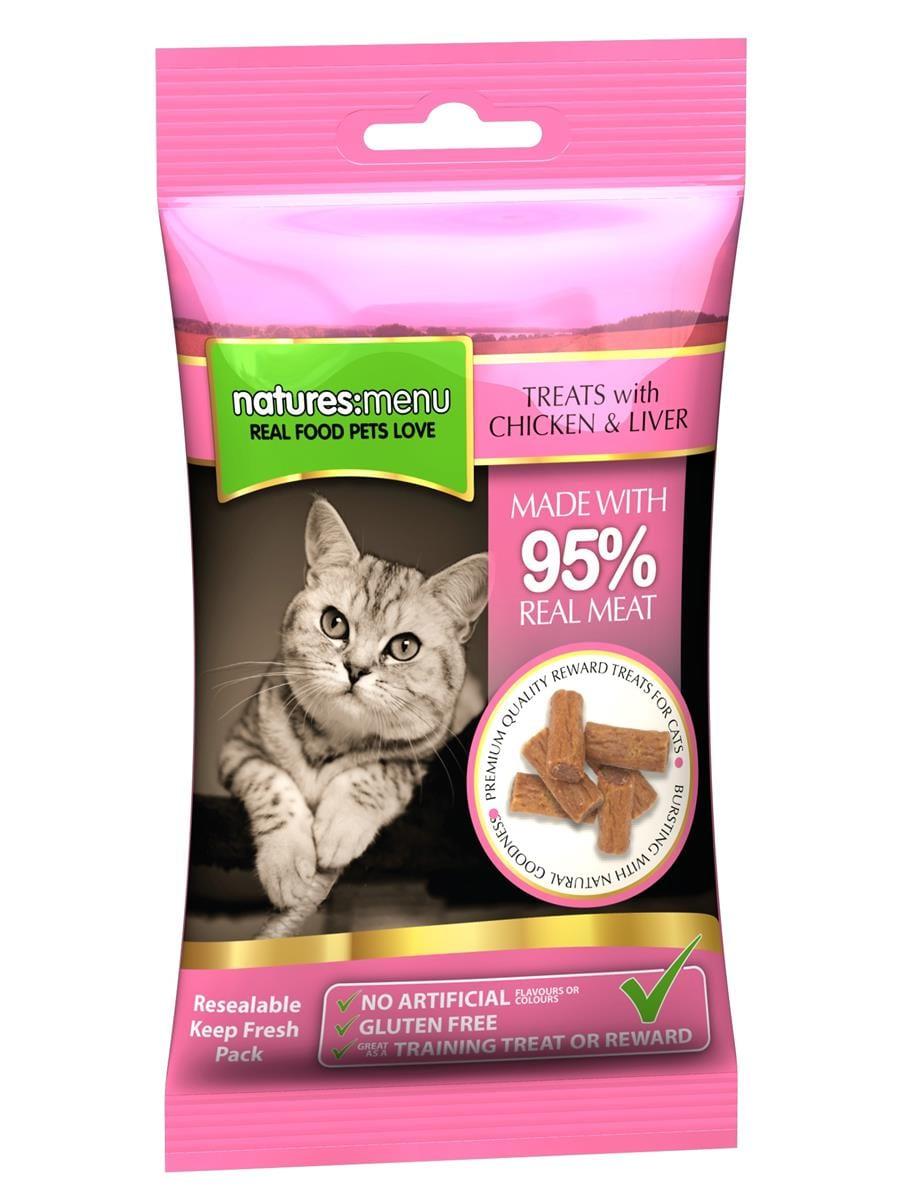 NATURES:MENU Chicken & Liver Cat 60g Godbiter