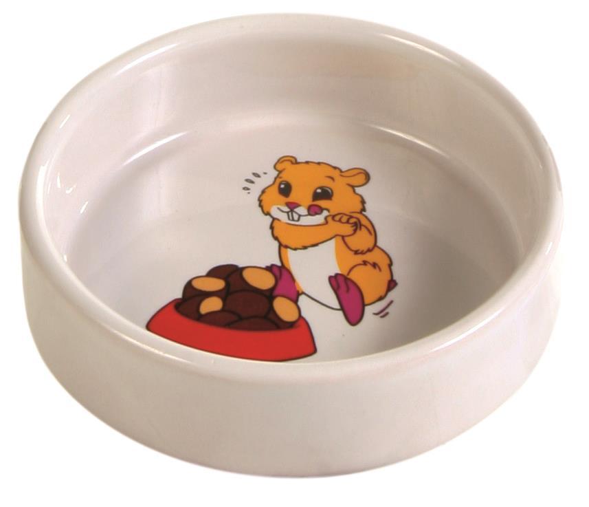 Matskål hamster med motiv
