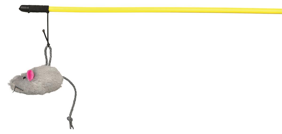Viftepinne fiskestang med pelsmus 50 cm