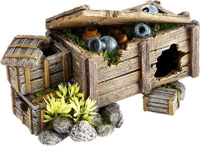 Akvariedekor Kiste med skatt 17x10x11 cm