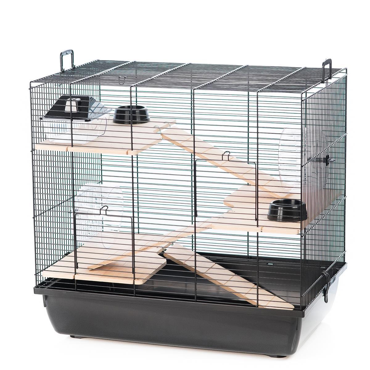 Hamsterbur Rex 3 beige/sort 59x38x55cm