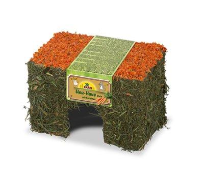 Høyhus med gulrot tak JR Farm 15x9x10 cm
