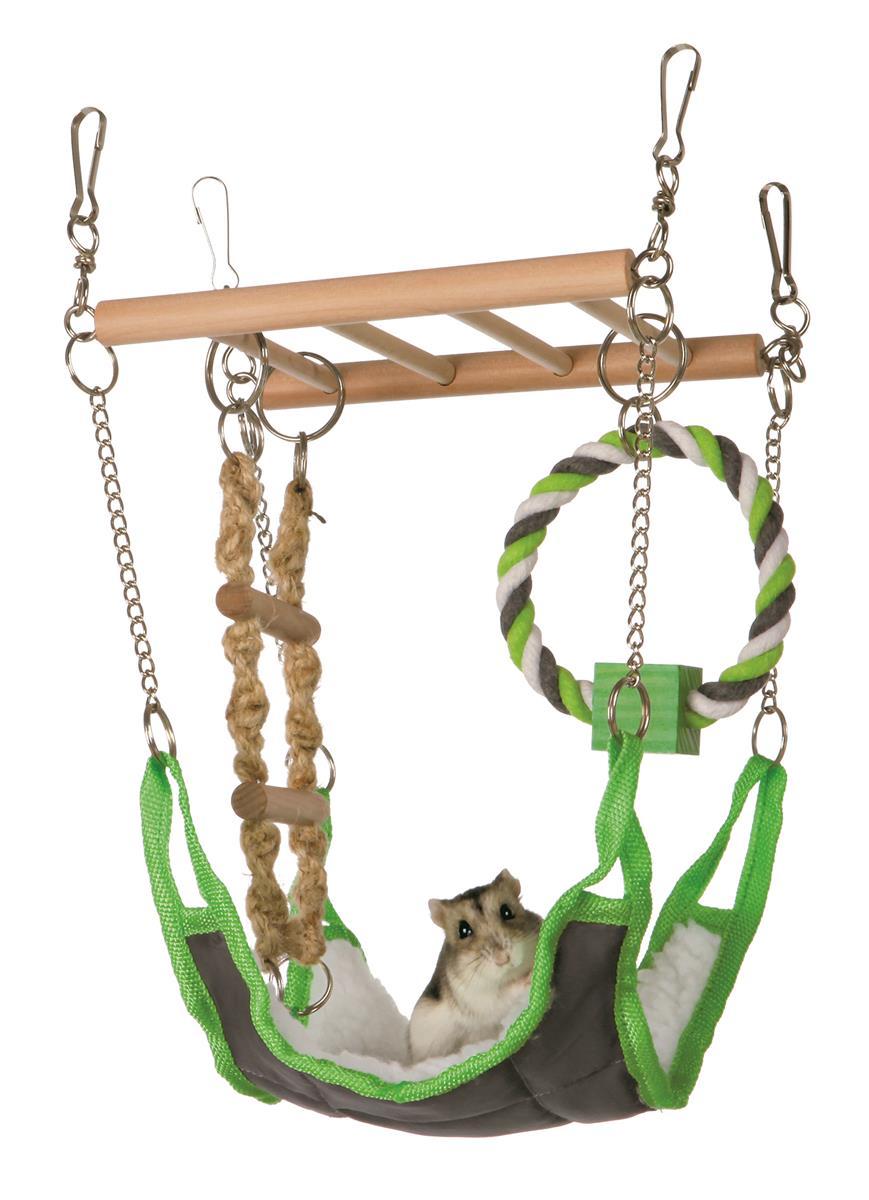 Leke til smådyr hengebro 17x15x22 cm Trixie