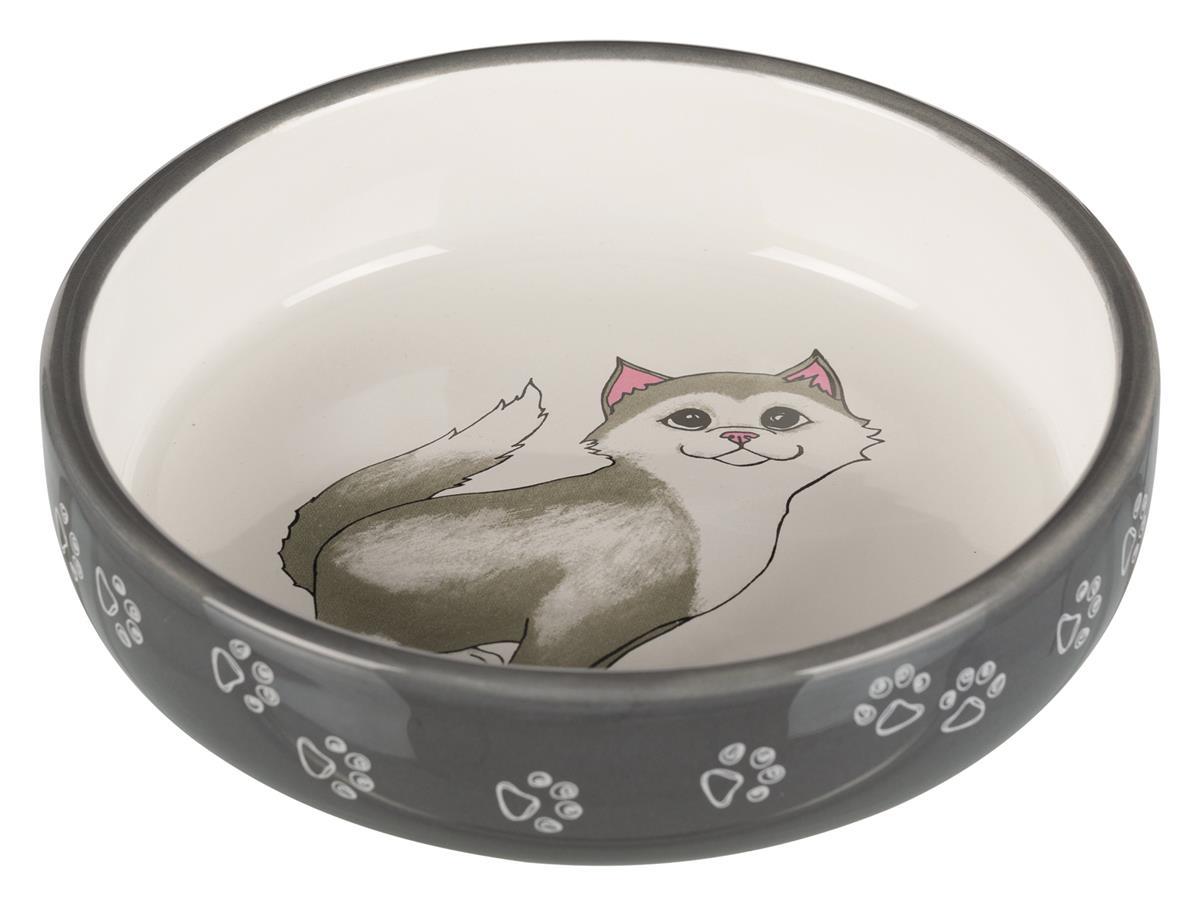 Matskål katt keramikk 24784