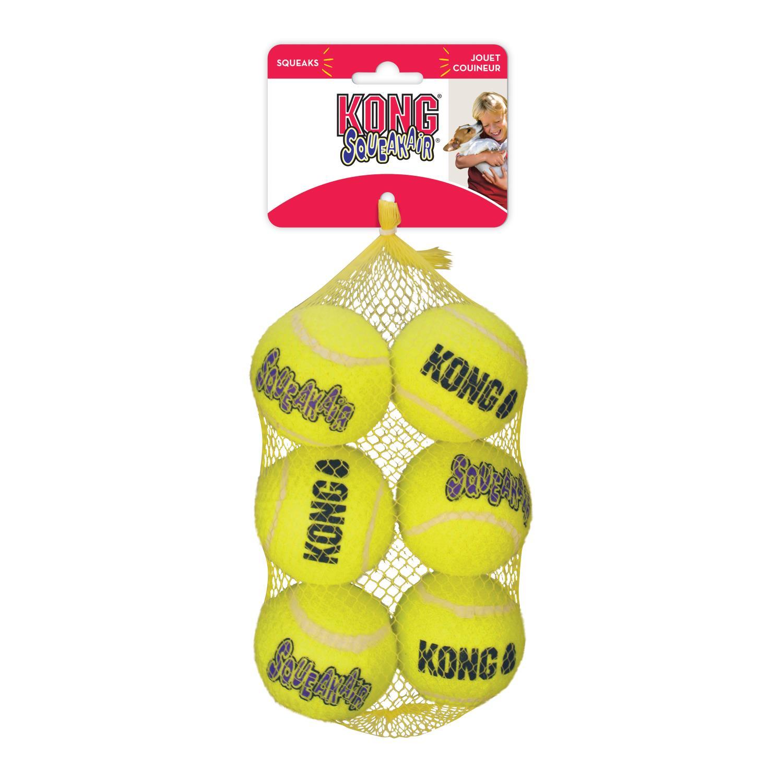 Kong Airdog Squeaker tennisball medium 6 pk