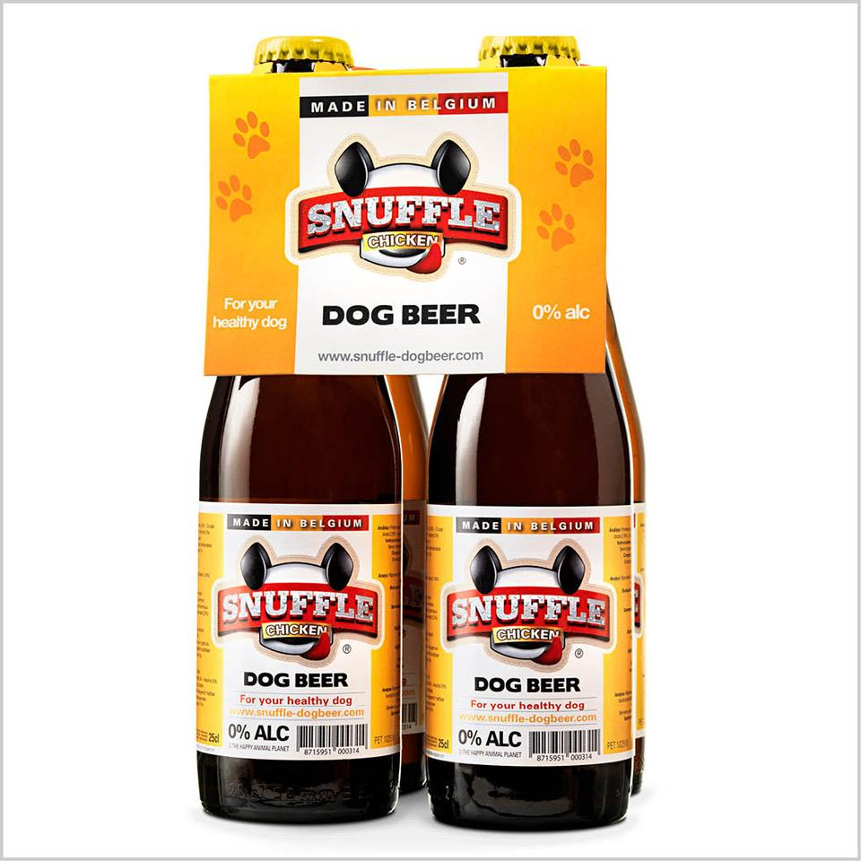 Øl til hund m/kylling-smak 25cl