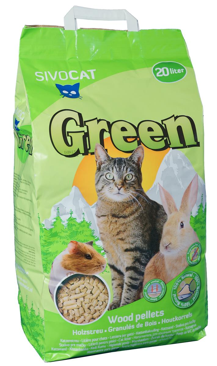 Miljøstrø 20 liter Sivocat Green
