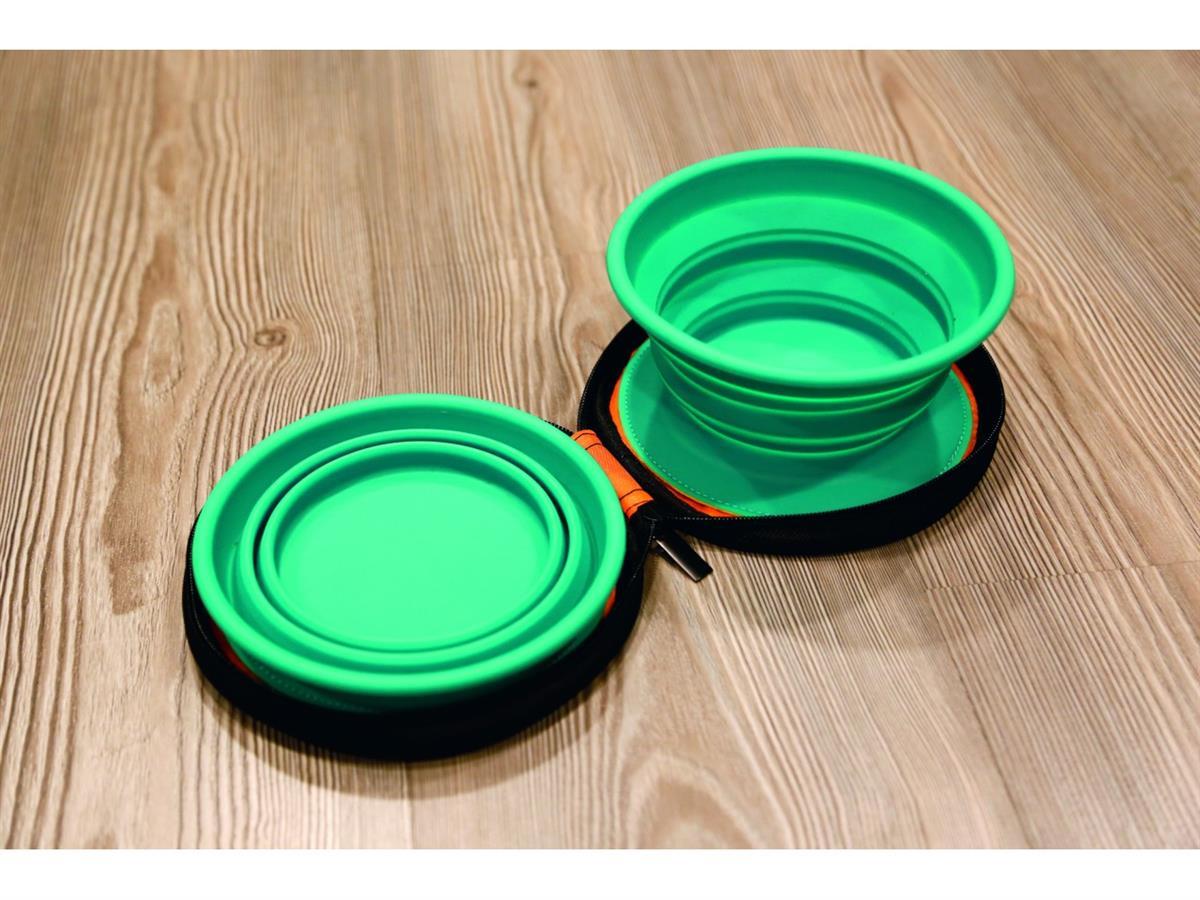 Reisesett matskål silikon