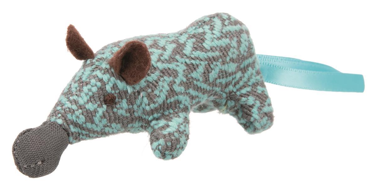 Katteleke Nesebjørn Polyester med catnip 8 cm