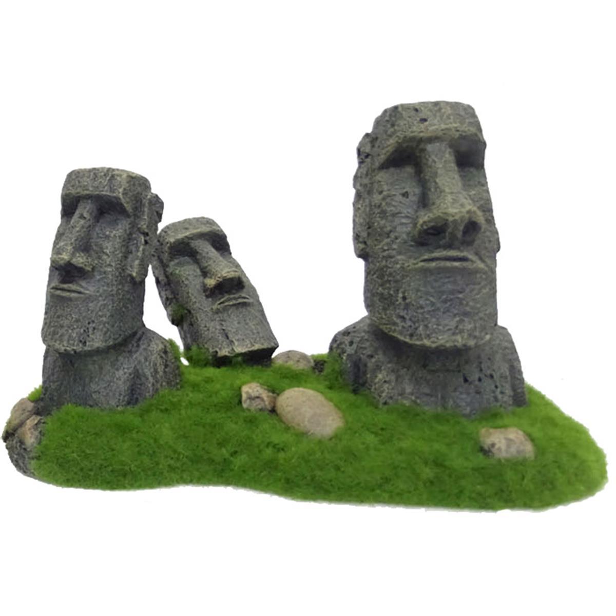 Akvariedekor Moai Statuer på Påskeøya