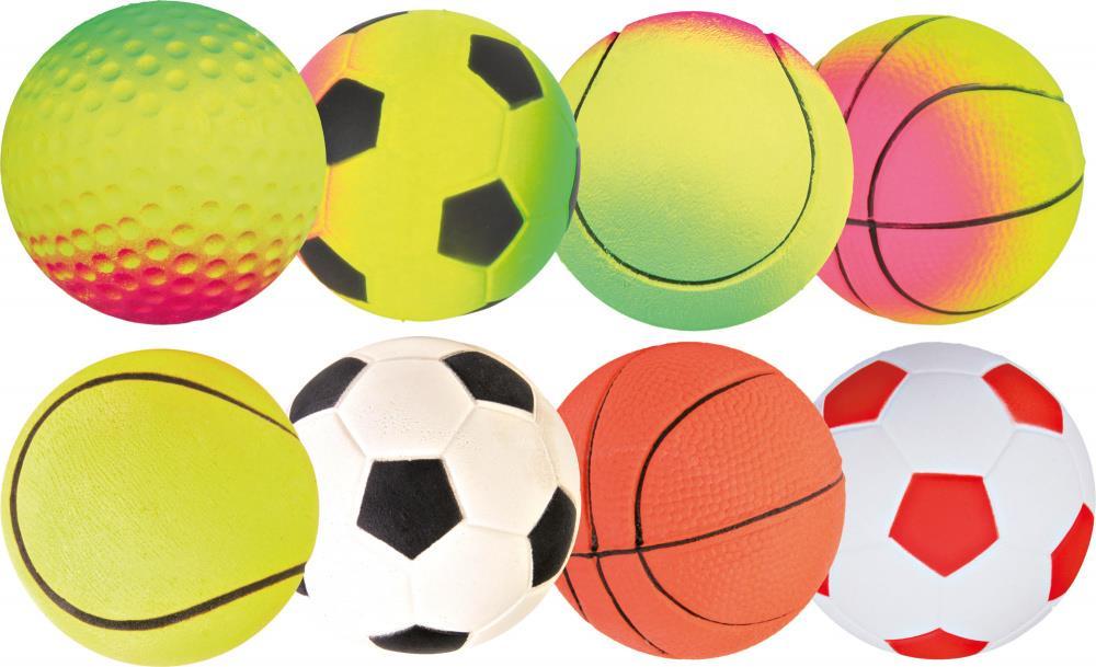 Hundeleke ball neon 4,5 cm
