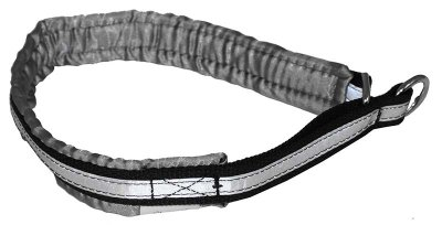 Halsbånd Alac grå halvstrup med refleks
