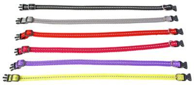 Halsbånd regulerbar med refleks 22-35 cm