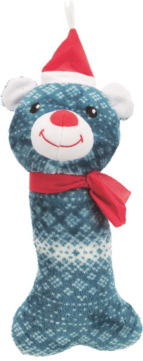 Juleleke plysj bein reinsdyr & bjørn 31 cm