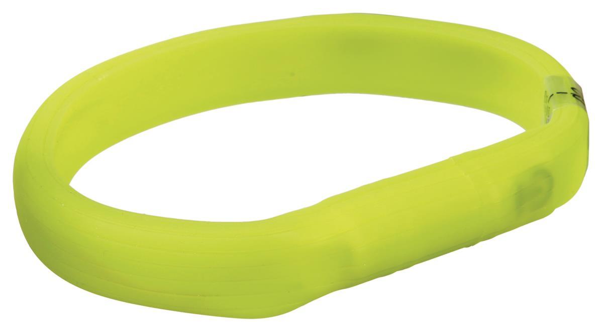 Lysende halsbånd silikon 70 cm 30 mm l-xl