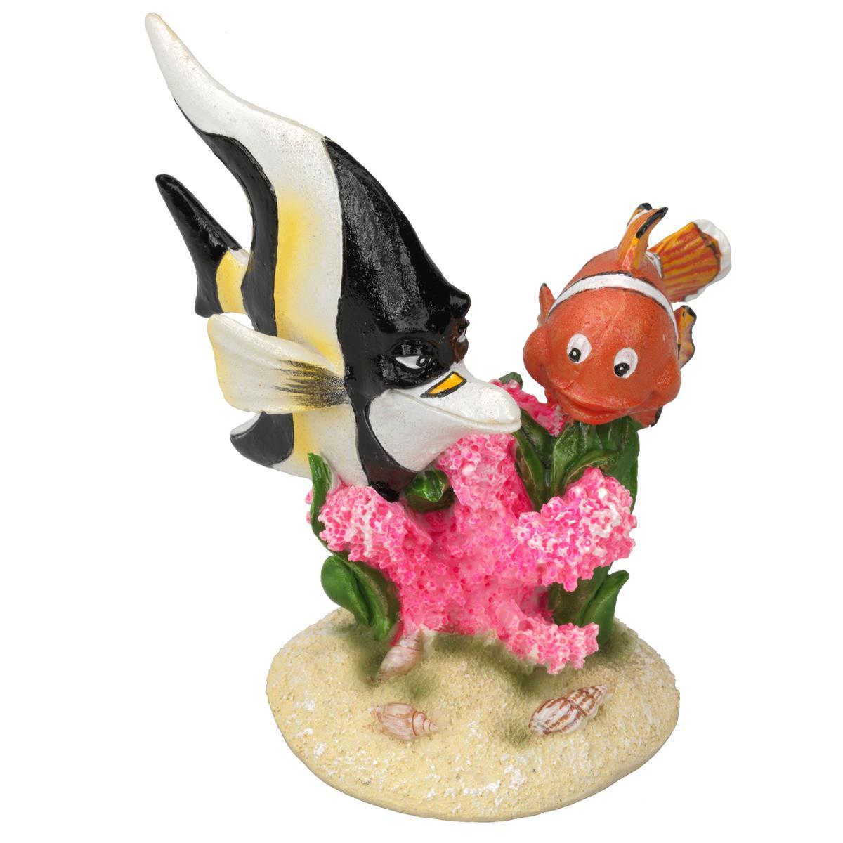 Akvariedekor Klovnefisk Nemo & Gill 9,2x7,8x10 cm