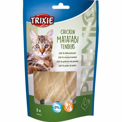 Trixie Chicken Matatabi Tenders Katt