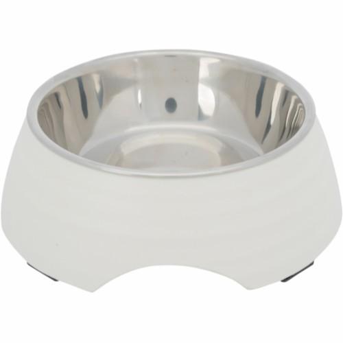 Hundeskål melamin/rustfritt stål 0,4L
