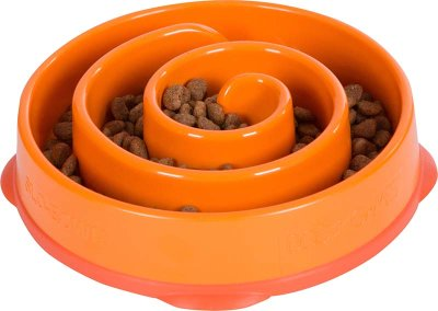 Matskål fun feeder slo-bowl S orange 20,5x5cm