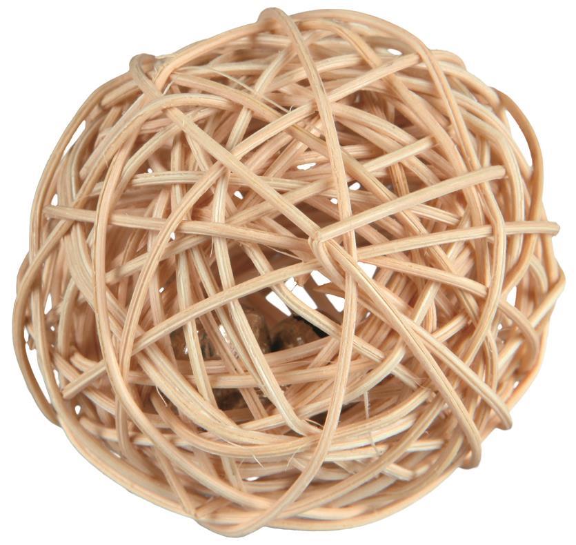WEIDEN-BALL MIT GLOCKE. 4 CM
