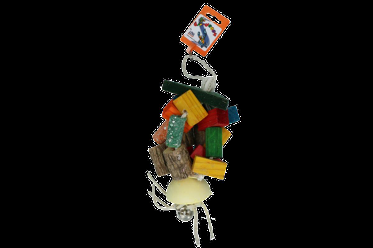 Fugleleke Birrdeez Strangled Bell Parrot toy 40 cm