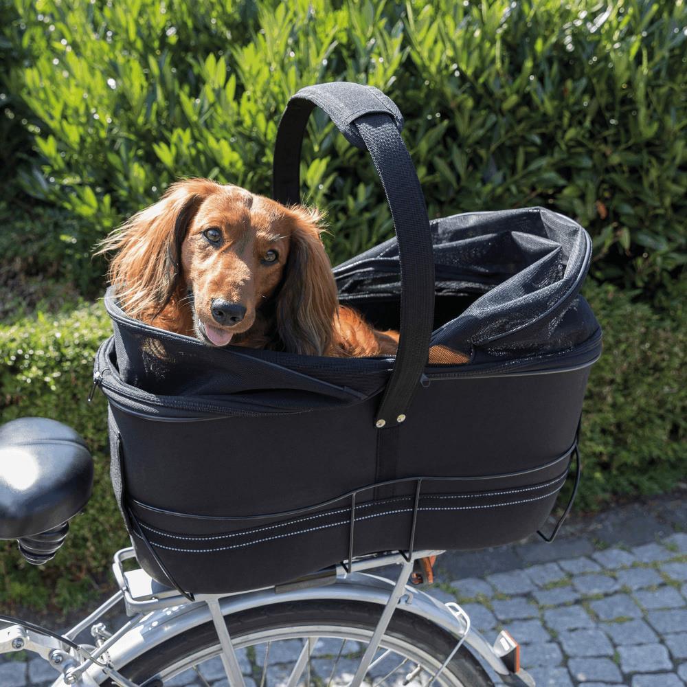 Sykkelkurv til hund for bagasjebrett