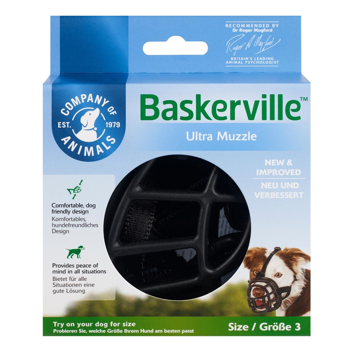 Munnkurv Baskerville Ultra str. 3