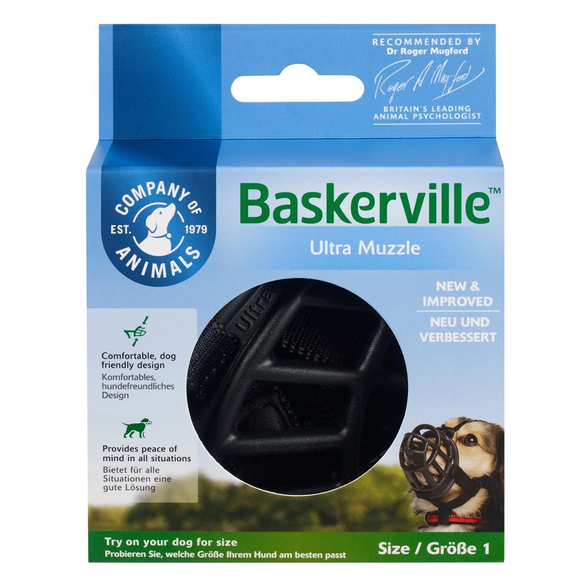 Munnkurv Baskerville Ultra str. 1