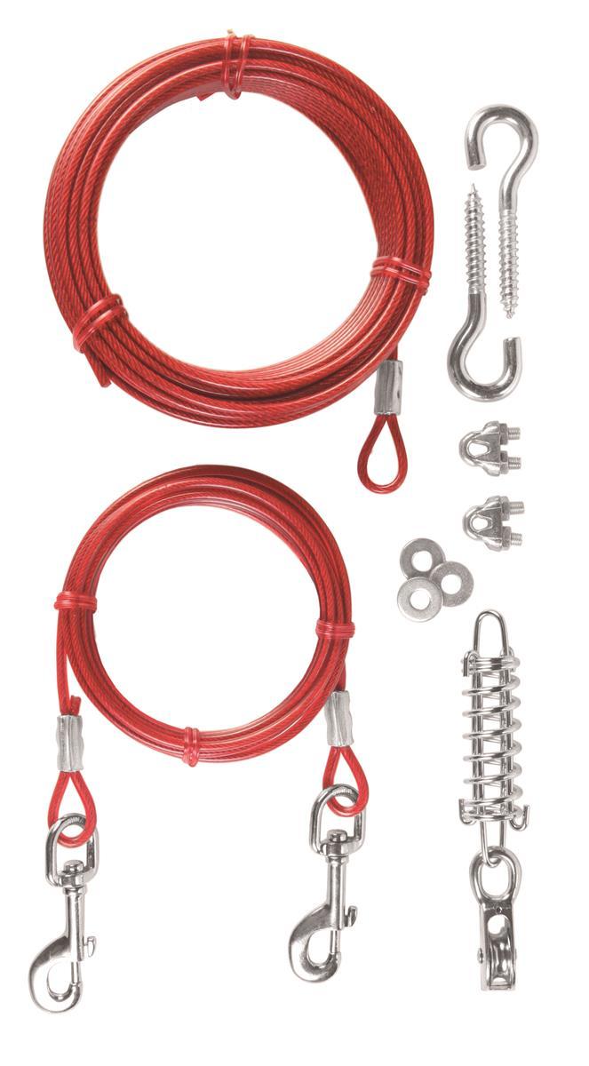 Løpestreng med wire og fester 15 cm