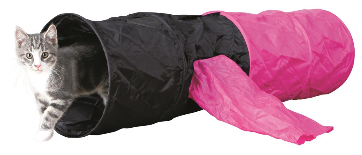 Kattetunnel polyester 115 cm med to utganger i sid