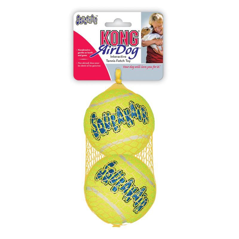 Kong Airdog tennisball 2 pk squeaker large 8 cm AS