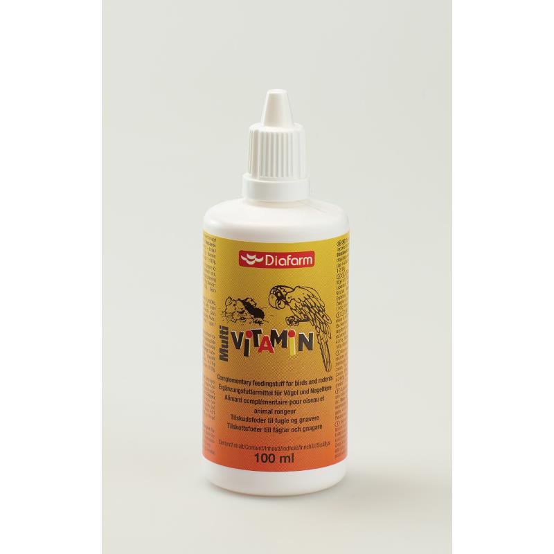 Diafarm Mulvivitaminer til fugl og smådyr 100 ml